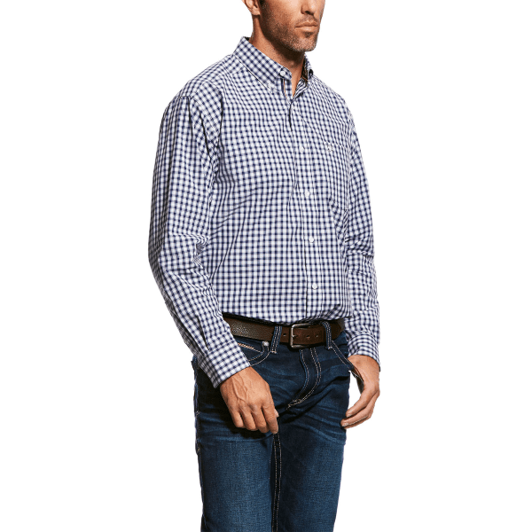 Ariat Mens Oberley Long Sleeve Performance Shirt Patriot Blue (10026479) - Gympie Saddleworld & Country Clothing
