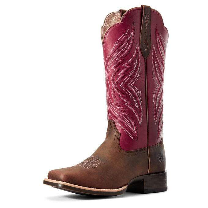 Ariat Womens Pinnacle Boots Brown and Fuscia (10029714) - Gympie Saddleworld & Country Clothing
