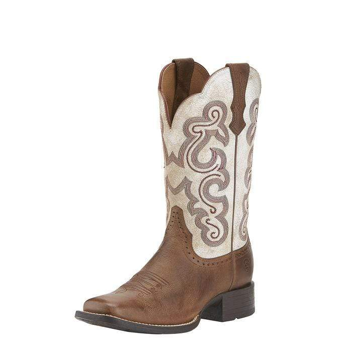 Ariat Womens Boots 10 / Distressed White Ariat Womens Quickdraw Boots Distressed White (10015318)