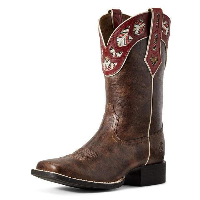 Ariat Womens Boots Ariat Womens Round Up Monroe Brown Crunch 10029657