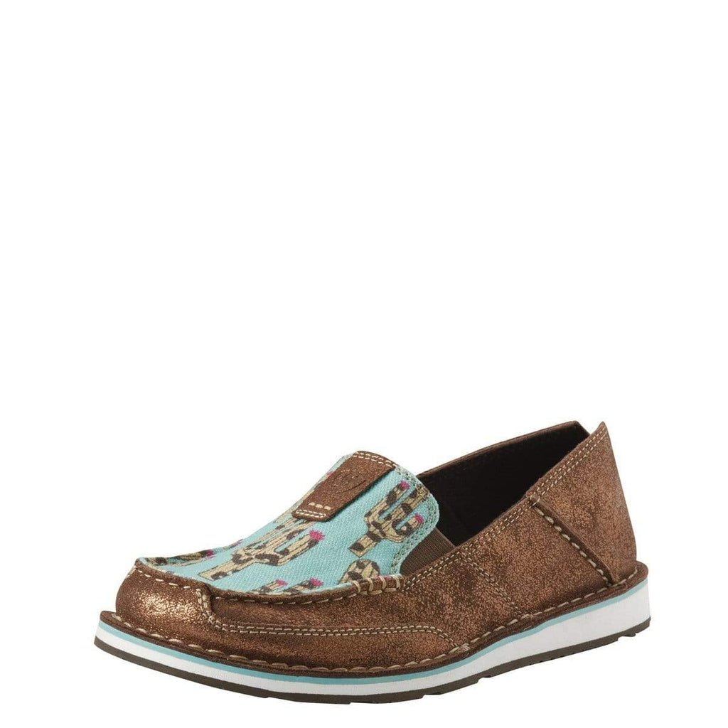 Ariat Womens Cruiser Metallic Bronze/Leopard Cactuas (10027352) - Gympie Saddleworld & Country Clothing