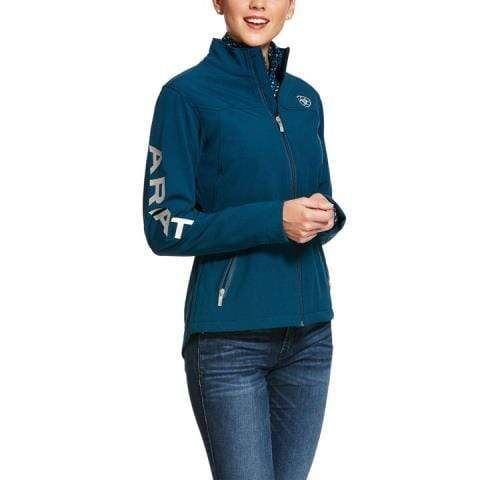 Ariat Womens Jackets L / Teal Ariat Womens Team Softshell Jacket Teal 10028251