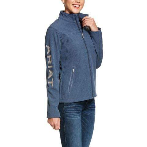 Ariat Womens Team Softshell Jacket Lake Life Heather 10028254 - Gympie Saddleworld & Country Clothing
