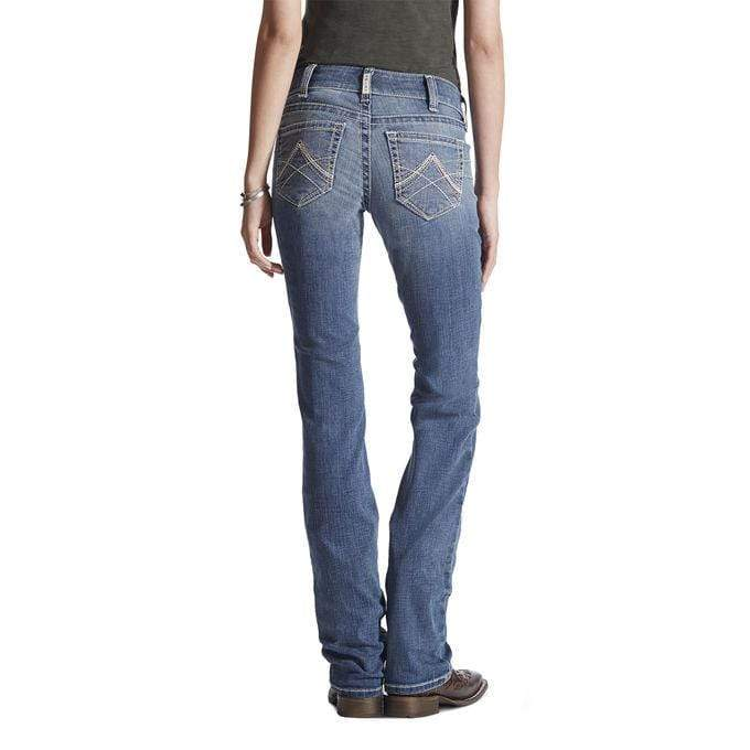 Ariat Womens REAL Straight Icon Rainstorm Jeans 10017217 - Gympie Saddleworld & Country Clothing