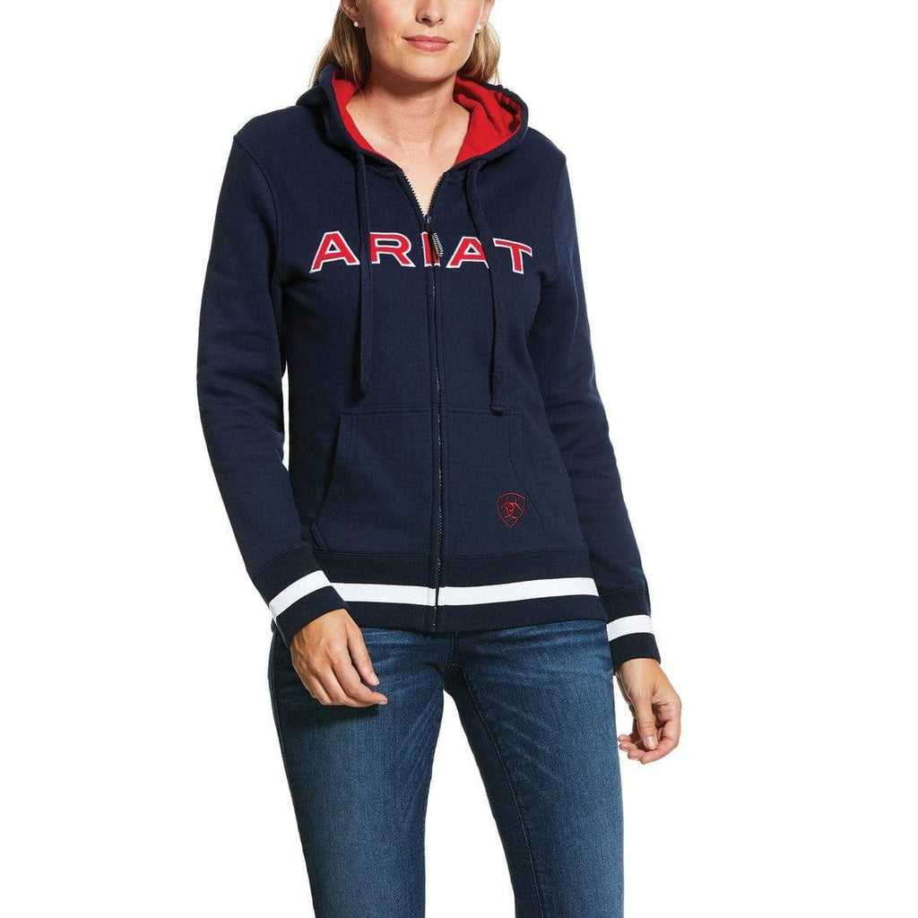 Ariat Womens Logo Full Zip Hoodie - Gympie Saddleworld & Country Clothing