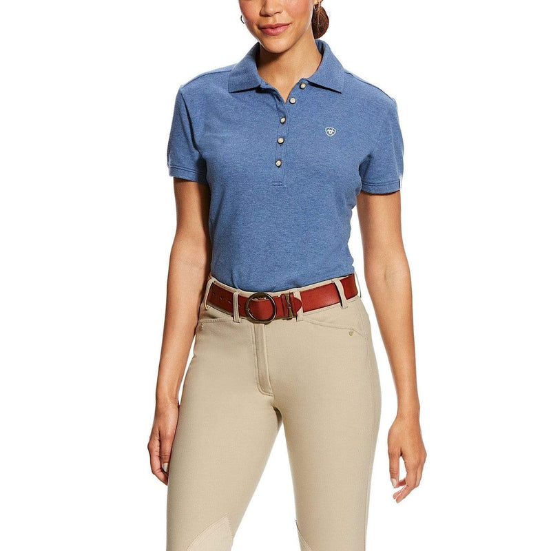 Ariat Womens Prix Polo Indigo Fade Heather (10025729) - Gympie Saddleworld & Country Clothing