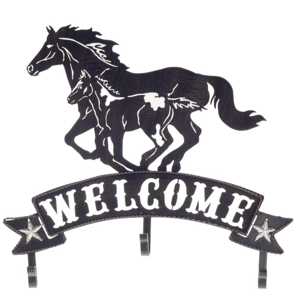 Brigalow Gifts & Homewares Brigalow Metal Welcome Sign Horse and Foal (7959)