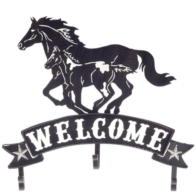 Brigalow Metal Welcome Sign Horse and Foal (7959) - Gympie Saddleworld & Country Clothing
