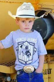Kids Cinch Shield Shirt Grey - Gympie Saddleworld & Country Clothing