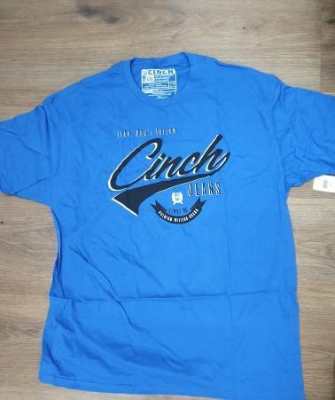Cinch Mens T-Shirts & Singlets Large / Royal Mens Cinch Marshall Shirt