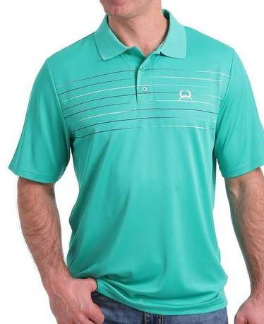 Cinch Mens Tops Small / Green Cinch Mens Polo Shirt MTK1820018