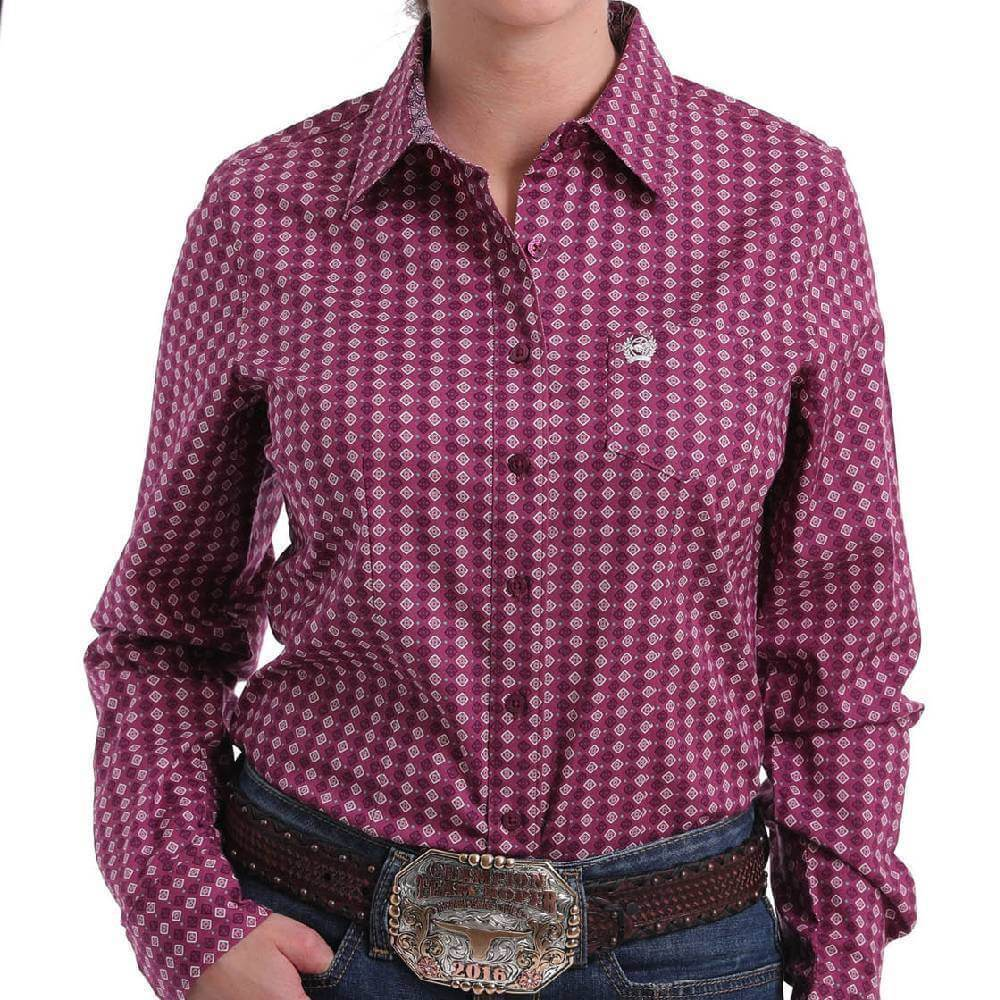 Cinch Womens Contrast Shirt - Gympie Saddleworld & Country Clothing