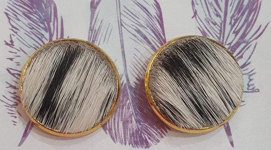 CCWJ 16mm Cowhide Earrings - Gympie Saddleworld & Country Clothing
