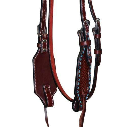 Bridle Fort Worth FOR20-0095 Turquoise Basket Headstall - Gympie Saddleworld & Country Clothing