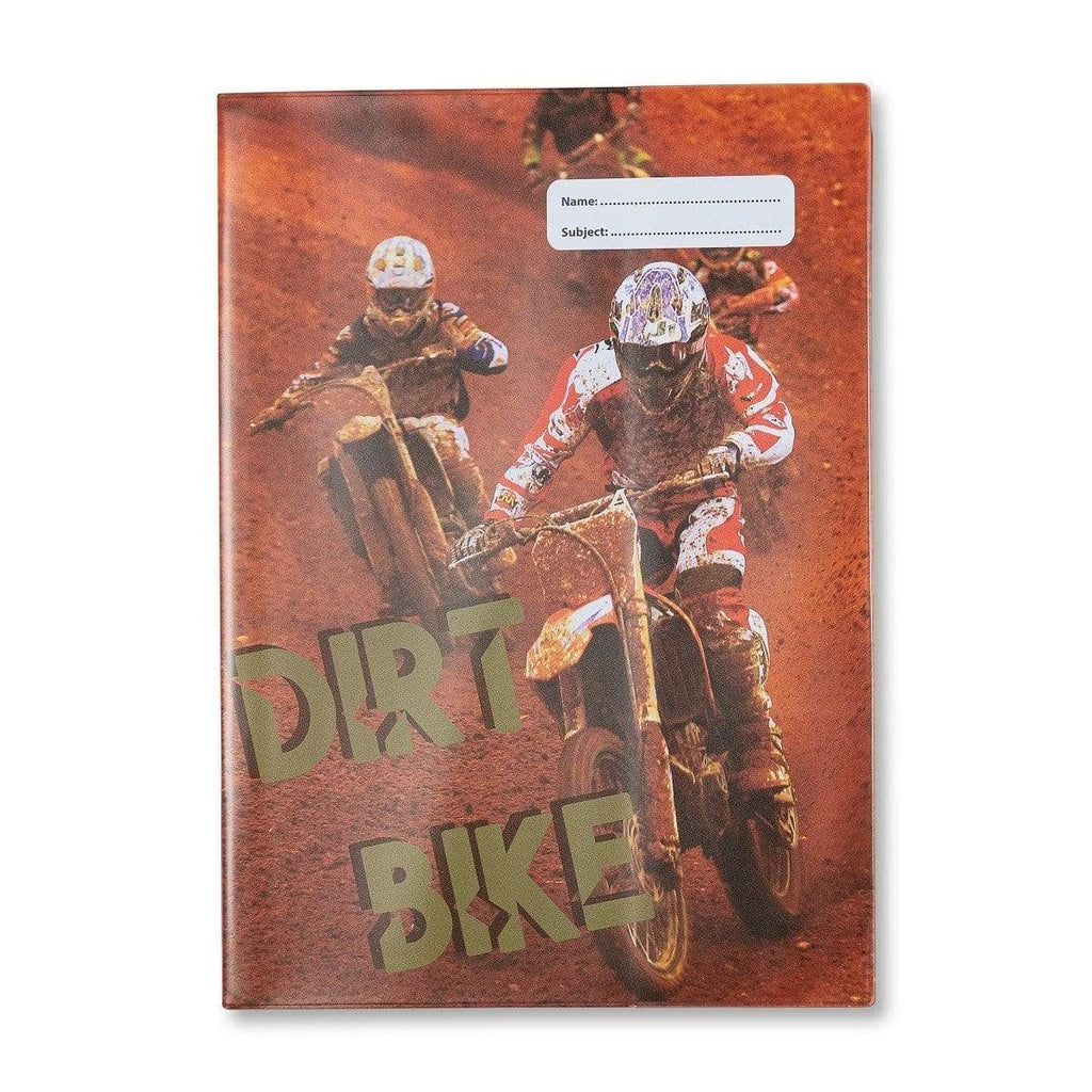 Dirt Bike A4 Book Cover III - Gympie Saddleworld & Country Clothing
