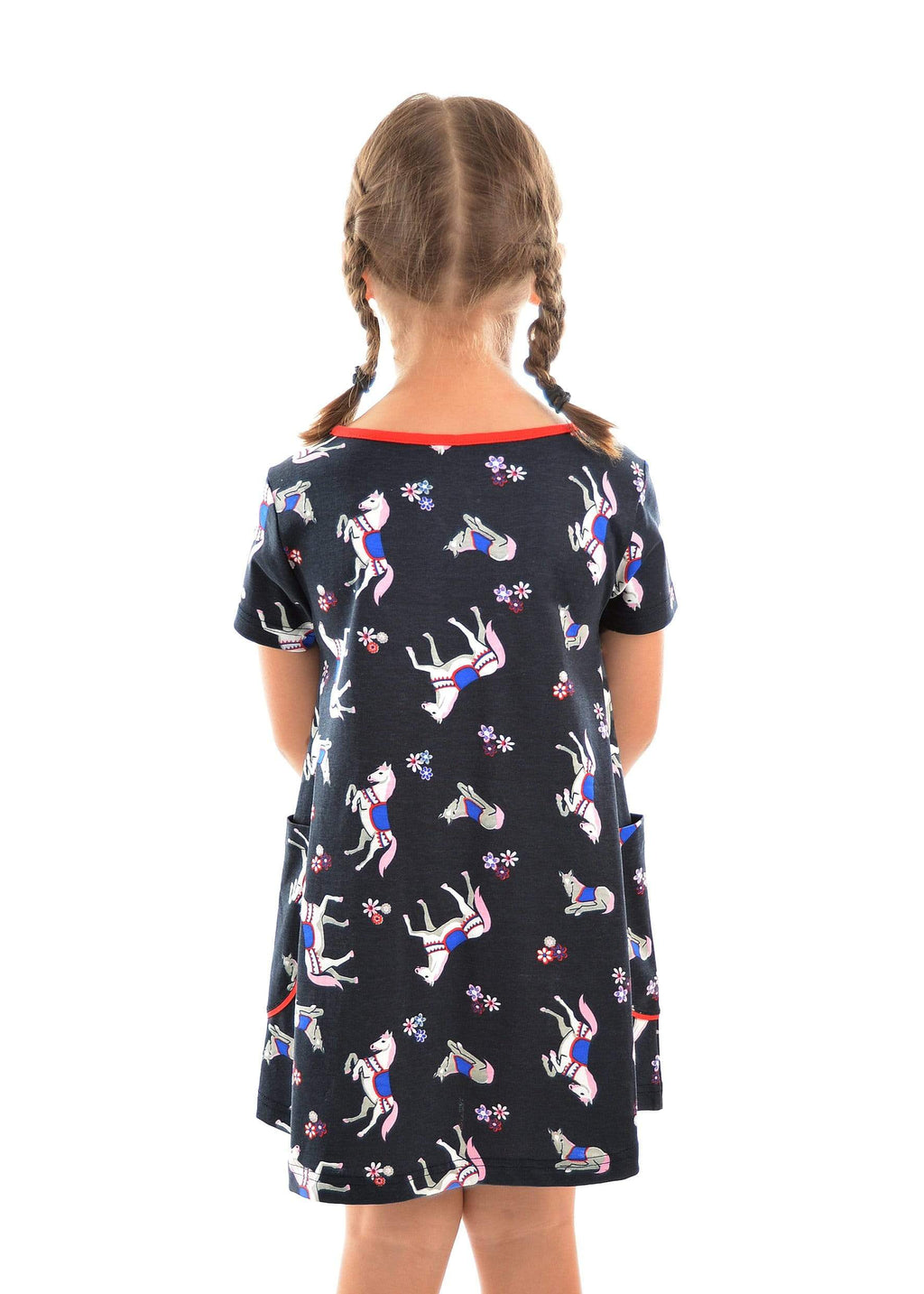 Gympie Saddleworld & Country Clothing DRESS Thomas Cook Girls Horse Print Dress