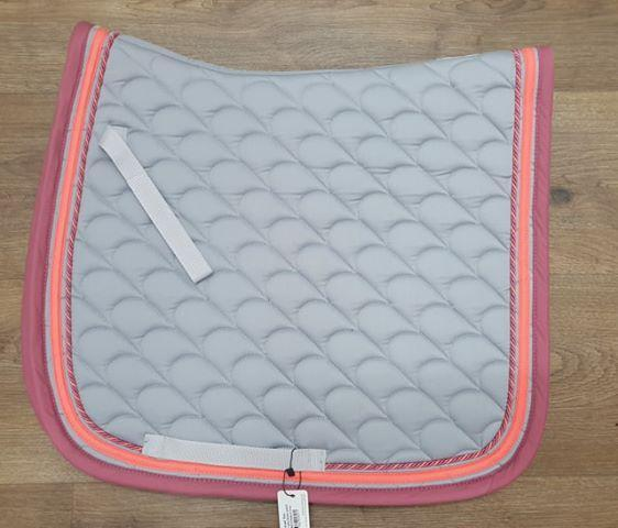 Waldhausen Dressage Saddlecloth Grey & Dusty Pink - Gympie Saddleworld & Country Clothing