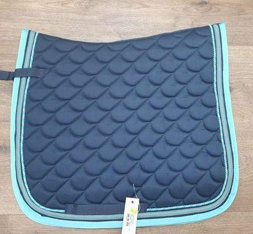Waldhausen Dressage Saddlecloth Navy & Aqua - Gympie Saddleworld & Country Clothing