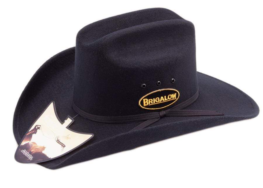 Brigalow Dallas Felt Covered Cowboy Hat Black (150) - Gympie Saddleworld & Country Clothing