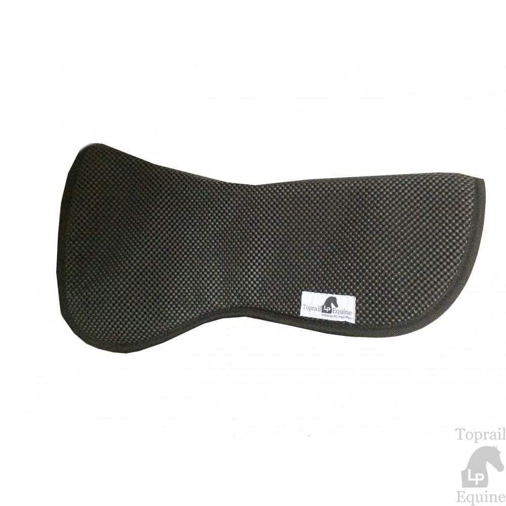 Gympie Saddleworld & Country Clothing Half Pads & Risers Black Toprail Equine Waffle Riser Pad