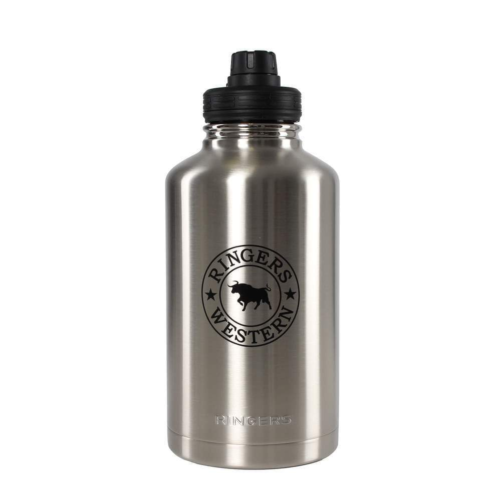 Gympie Saddleworld & Country Clothing Homewares 1893mL Ringers Western Gulper Stainless Steel Insulated Drink Bottle