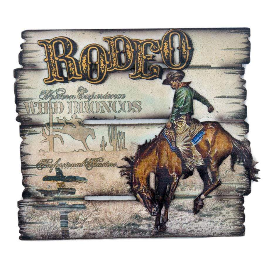 Gympie Saddleworld & Country Clothing Homewares Brigalow Rodeo Sign Wall Mount (7074)