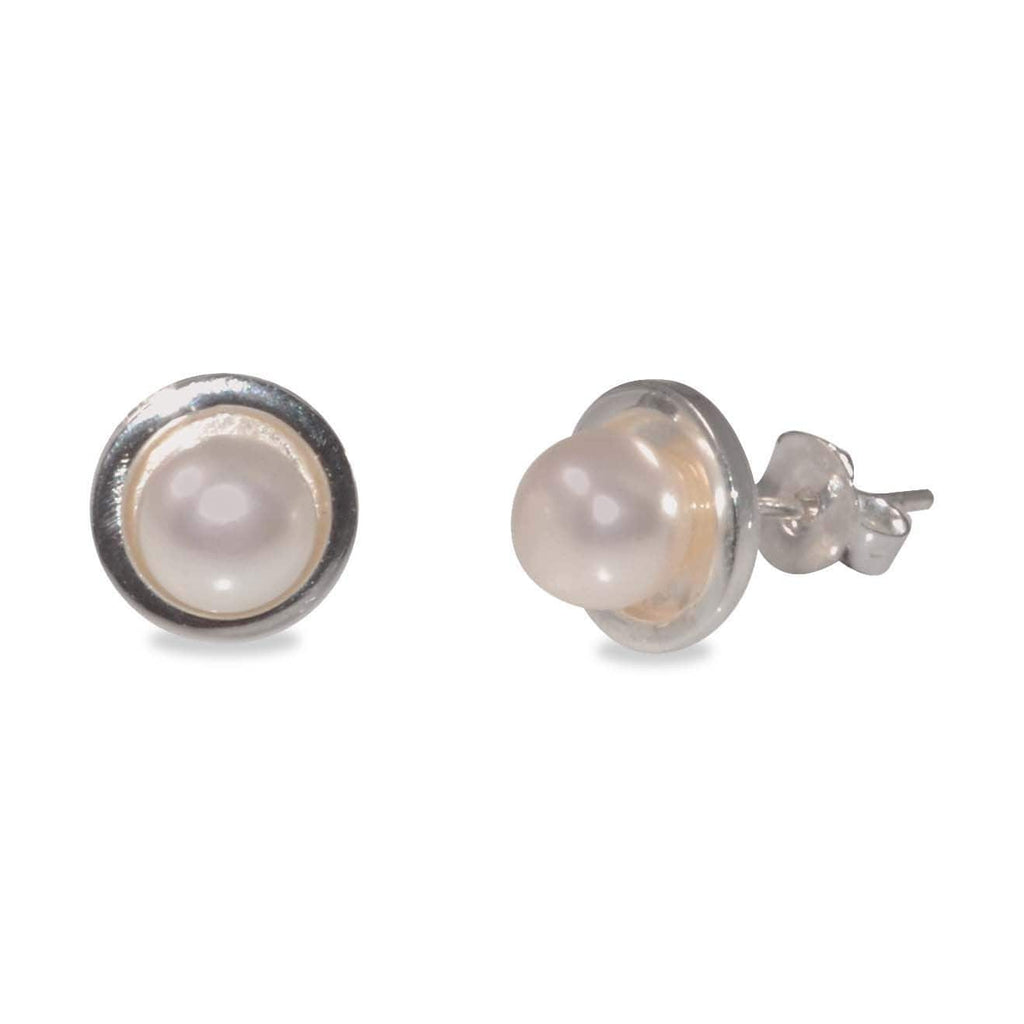 MCJ Pearl Stud Earrings - Gympie Saddleworld & Country Clothing