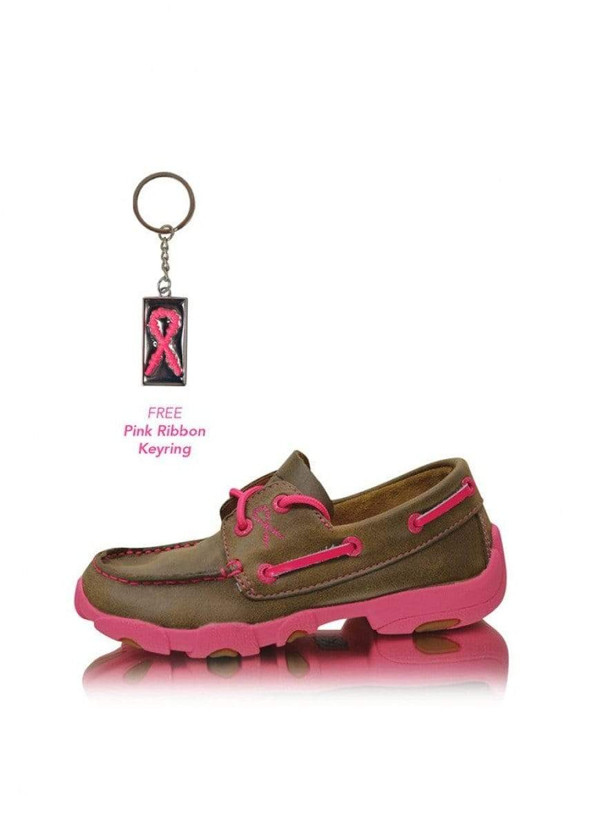 Cowkids Pink Ribbon Mocs - Gympie Saddleworld & Country Clothing