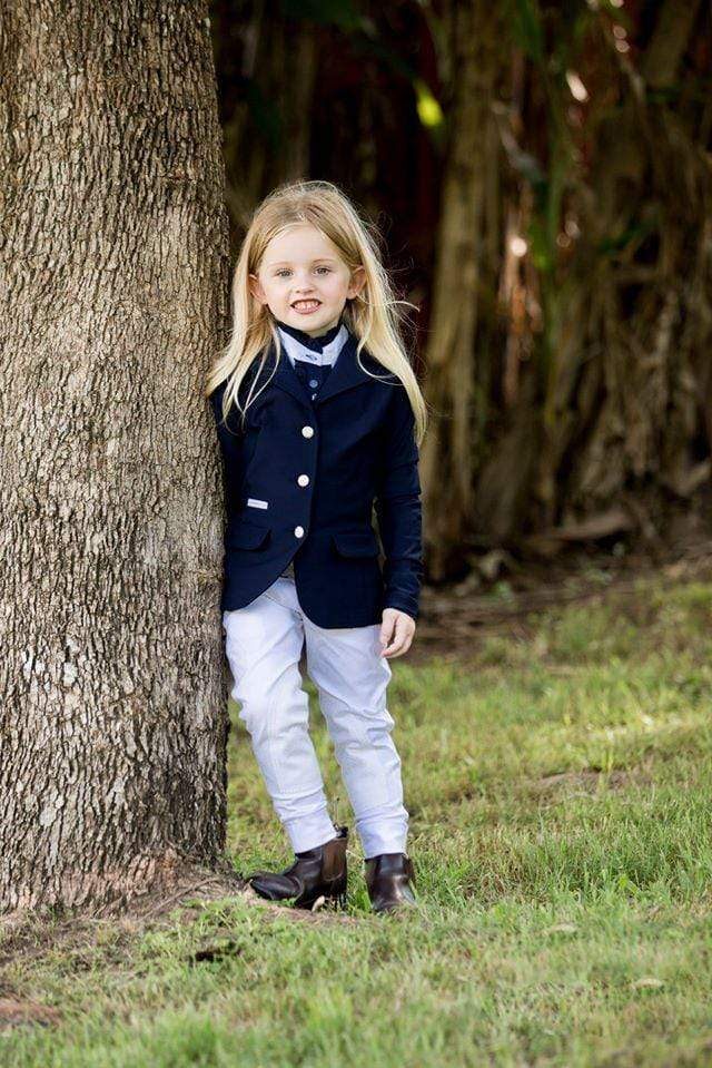 Gympie Saddleworld & Country Clothing Kids Riding Attire 2 / Navy Hampton & Harlow Kids Navy Show Jacket