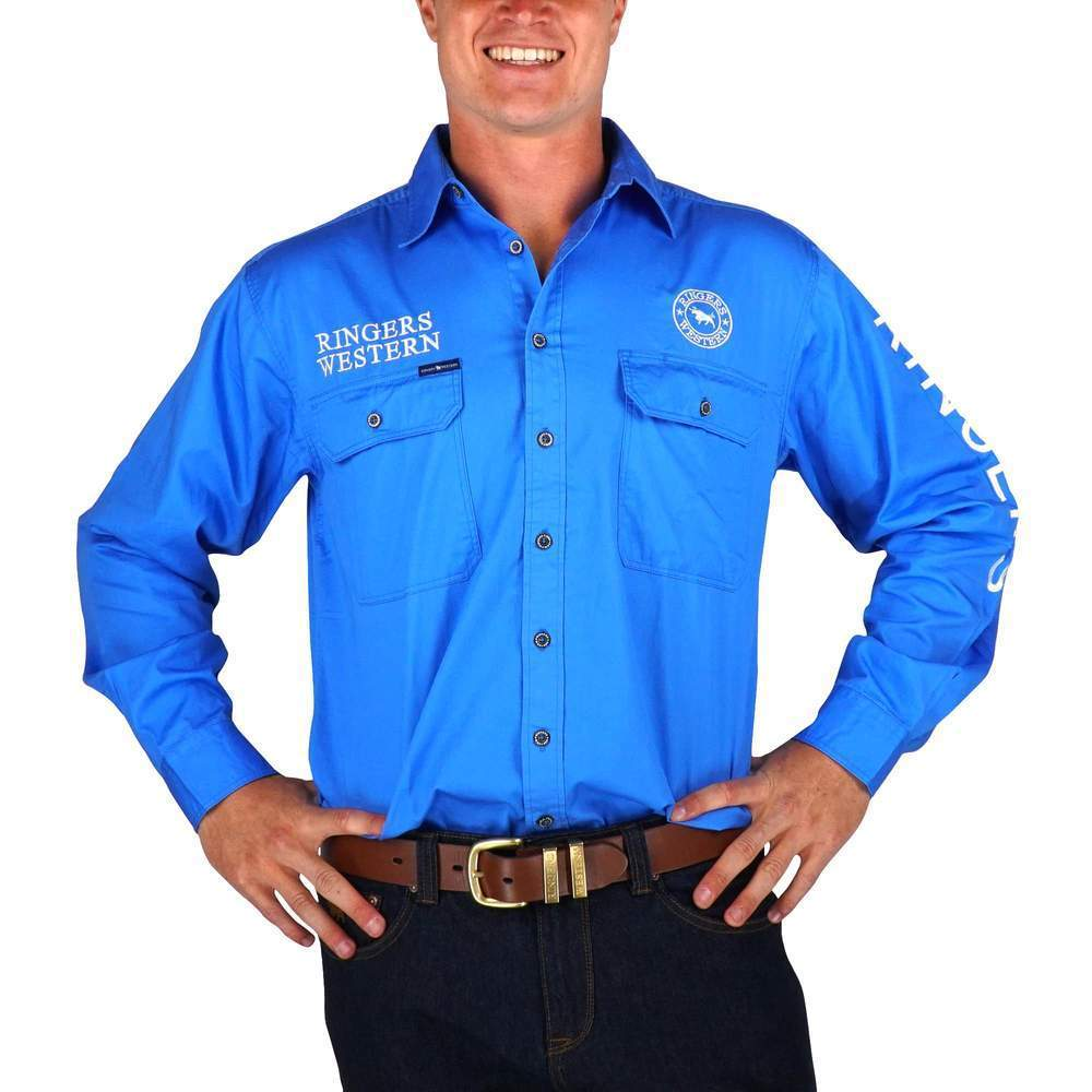 Ringers Western Mens Hawkeye Work Shirt - Gympie Saddleworld & Country Clothing