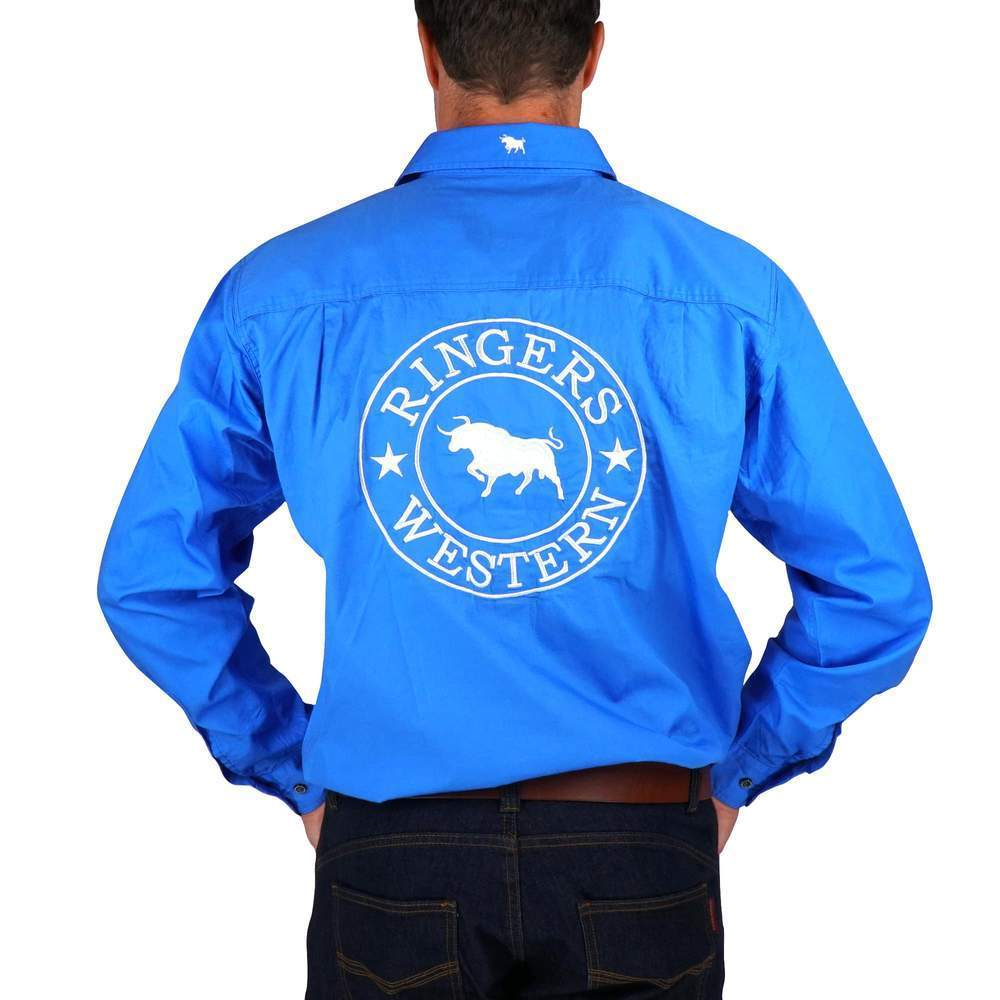 Gympie Saddleworld & Country Clothing Mens Workshirts Ringers Western Mens Hawkeye Work Shirt