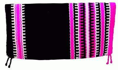 Gympie Saddleworld & Country Clothing saddle cloths & pads Western Saddle Blanket Black, White and Fuschia