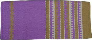 Gympie Saddleworld & Country Clothing saddle cloths & pads Western Saddle Blanket Purple and Cream