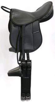 Gympie Saddleworld & Country Clothing Saddles Status Pony Pad Fully Mounted Black