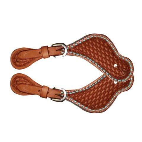 Fort Worth Turquoise Basket Spur Straps - Gympie Saddleworld & Country Clothing