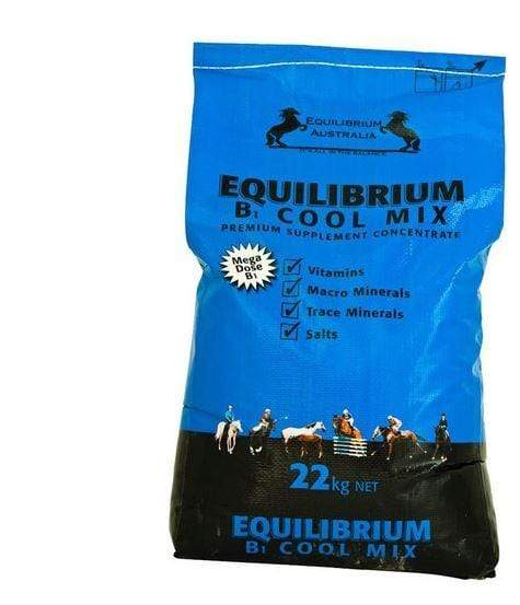 Gympie Saddleworld & Country Clothing Vitamins & Minerals 22kg Equilibrium B1 Cool Mix Blue