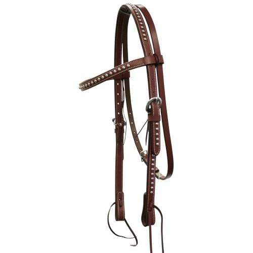Gympie Saddleworld & Country Clothing Western Bridles Cob-Full / Tan Wichita Silver Dot Headstall
