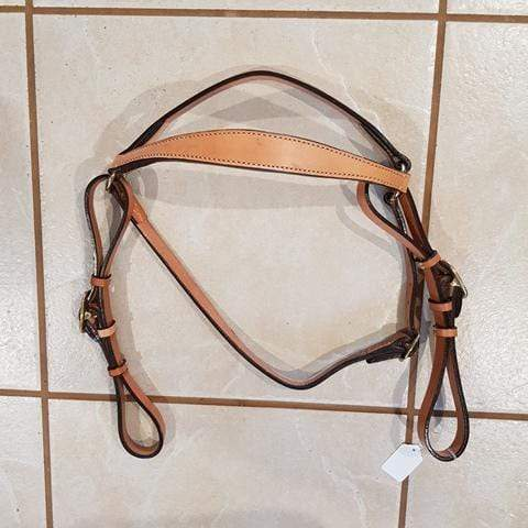 Gympie Saddleworld & Country Clothing western bridles & reins Cob-Full / CARAMEL Western Traditions Plain Stock Bridle MC2300 Caramel