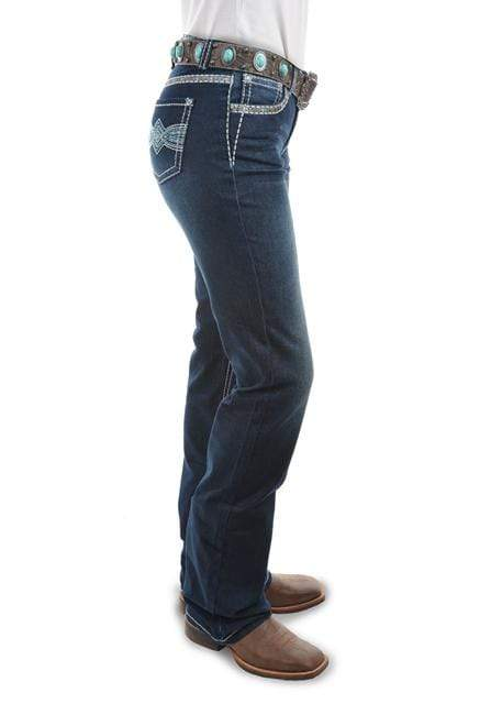 Pure Western Womens Indiana Relaxed Rider Jeans Midnight PCP2210156 - Gympie Saddleworld & Country Clothing