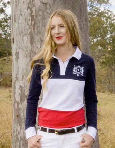 HH Equestrian Womens Jumpers & Hoodies 10 HH Equestrian Womens Tri Colour Rugby