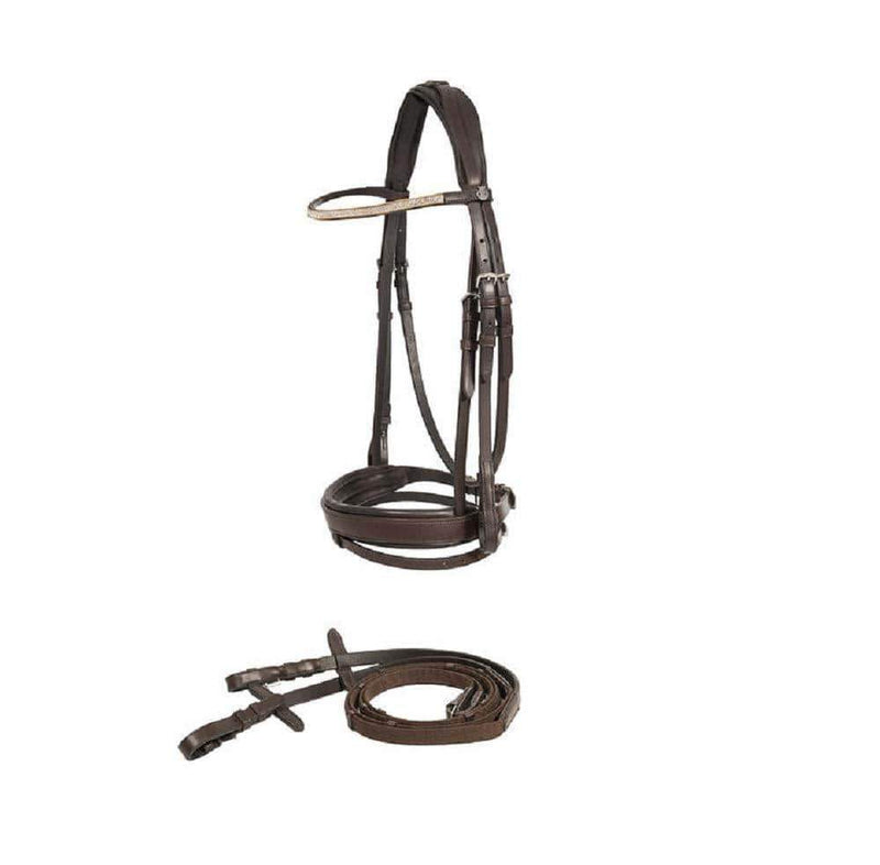 Horze 10011 Prescott Snaffle Bridle Black 10011 - Gympie Saddleworld & Country Clothing