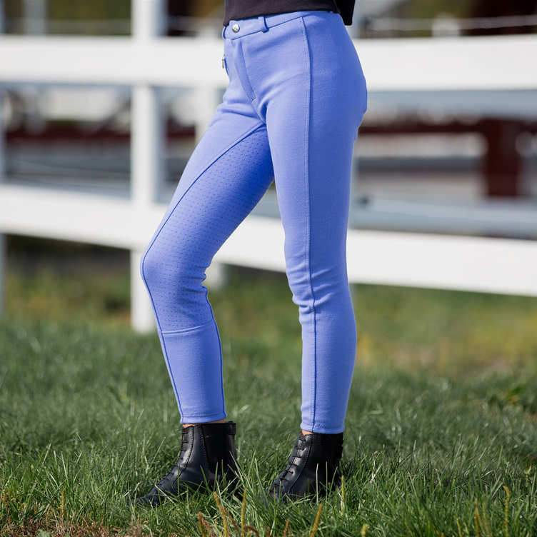 Horse Kids Full Gel Seat Breeches Purple 36278 - Gympie Saddleworld & Country Clothing