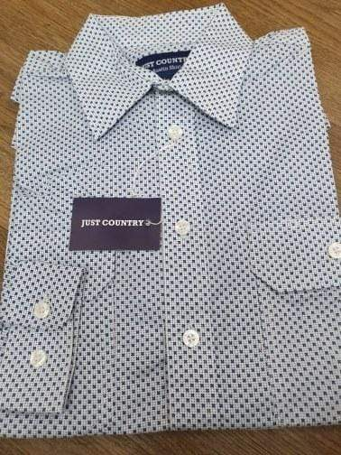 Just Country Mens Workshirts Just Country Workshirt Austin White