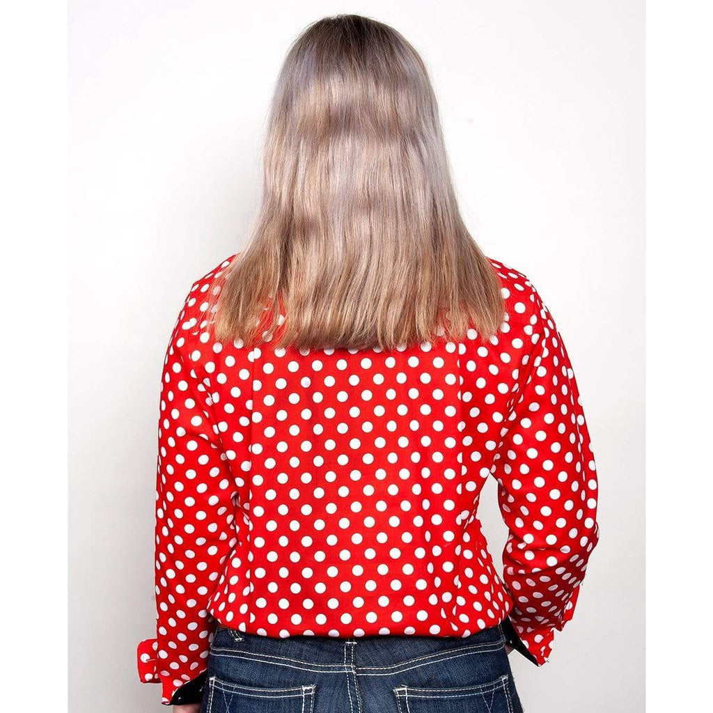 Just Country Womens Abbey Red with Spots Workshirt - Gympie Saddleworld & Country Clothing