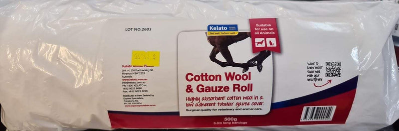Kelato Cotton Wool & Gauze Roll (KLGAUZ) - Gympie Saddleworld & Country Clothing
