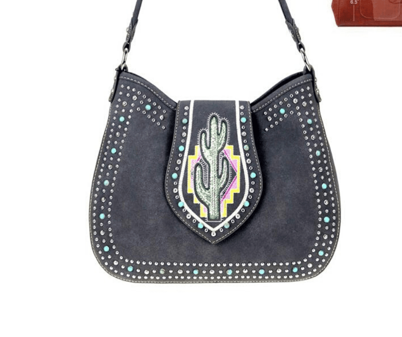 Montana West Cactus Collection Handbag MW860G-918 Black - Gympie Saddleworld & Country Clothing