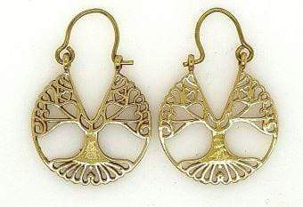 MCJ Brass Plate Earrings - Gympie Saddleworld & Country Clothing
