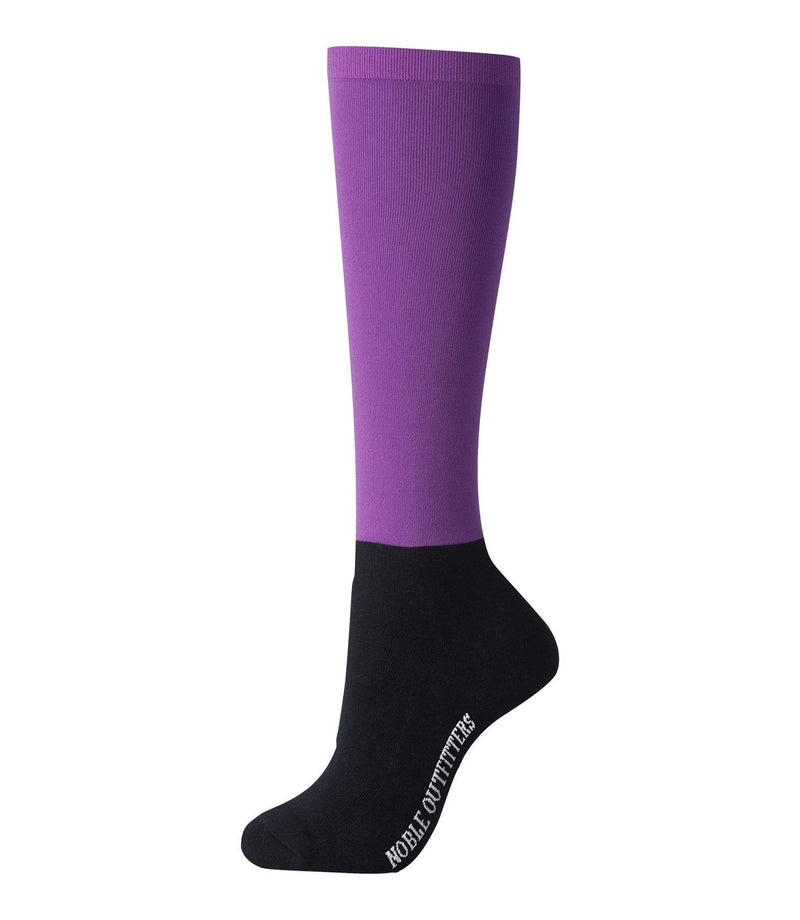 Noble Womens OTC Peddies Solid Blackberry Socks (NO62006640) - Gympie Saddleworld & Country Clothing