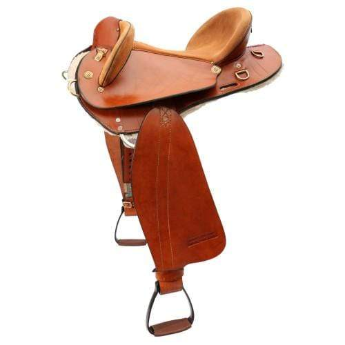 Ord River Saddles 17in Saddle Ord River ORD1595 Half Breed Poley Rough Out Seat 17