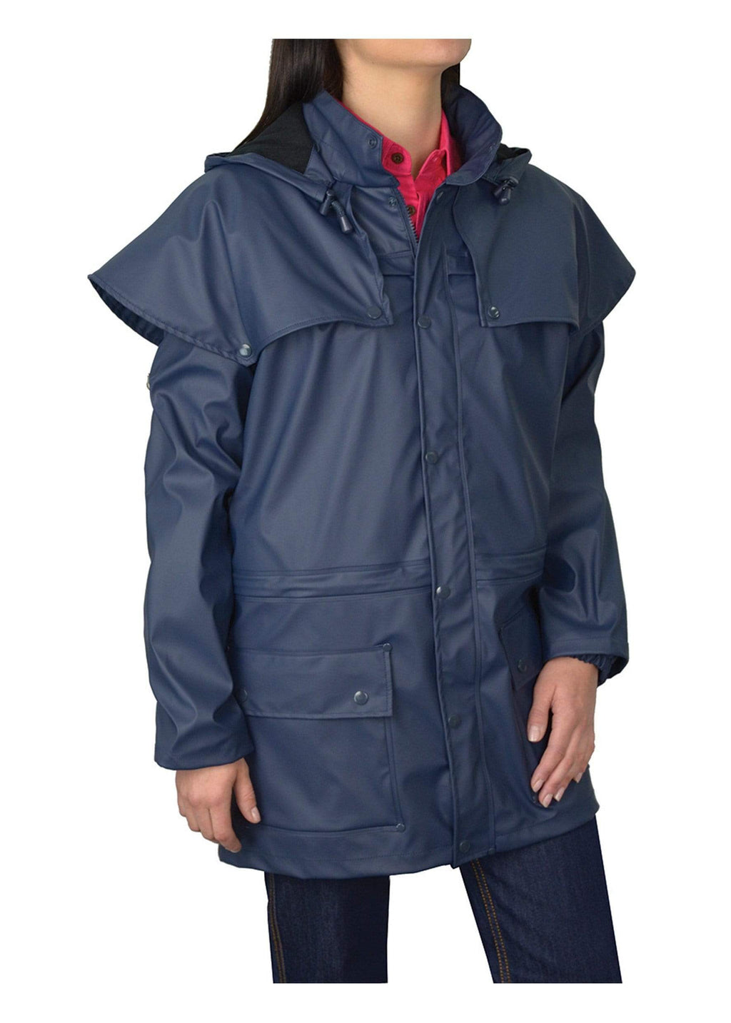 Pioneer Raincoat Navy - Gympie Saddleworld & Country Clothing